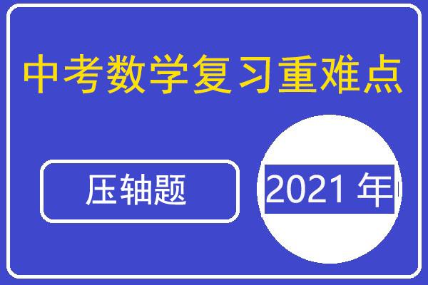 2021年中考数学复习重难点与压轴题型专项训练(含答案解析)(共17套打包)
