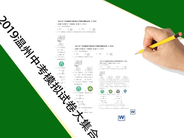 2019年温州市中考模拟试卷大集合(共90套打包)