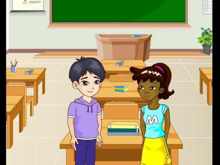 仁爱版九年级英语上册Unit 4 Topic 2 Section B(p91-1a)动画课文对话