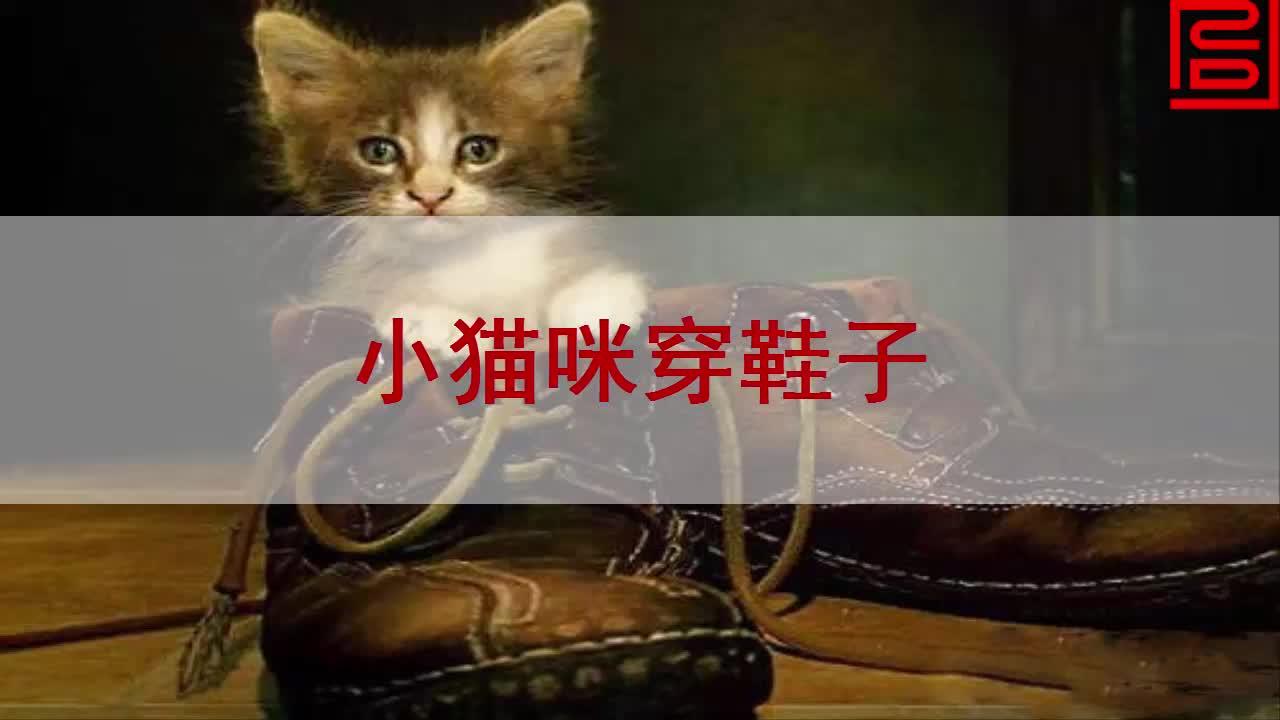 【北师大版】语文二年级上:第5单元第1课《小猫咪穿鞋子》课文朗读