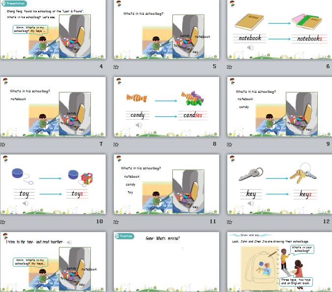 新人教PEP版四年级上册英语Unit2 Part B 第二课时 课件(含动画素材)